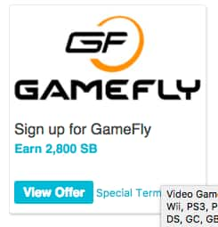 ($18 Money Maker) Swagbucks: 2-Months Gamefly Video Game Rental Service + 2800 SB