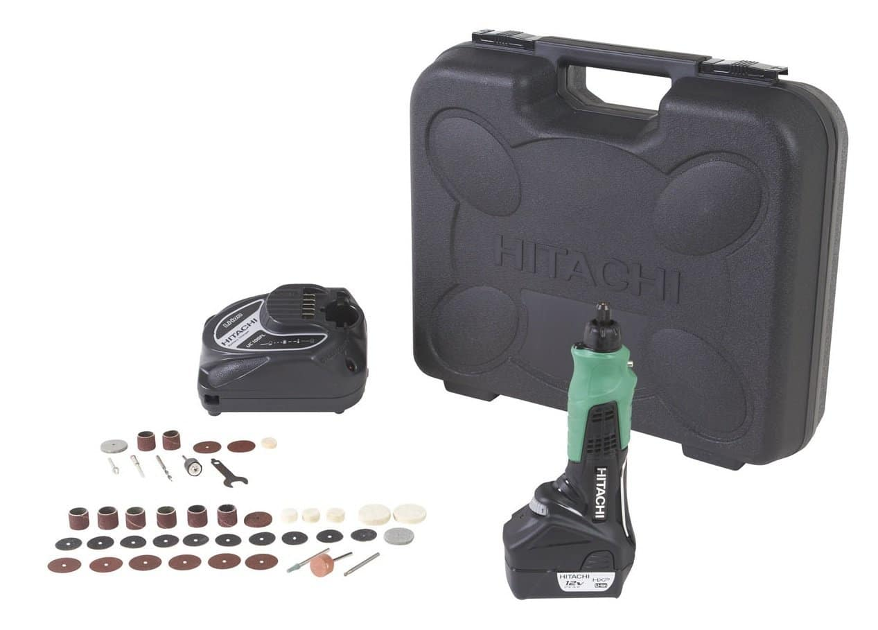 Hitachi GP10DL Cordless 12-Volt Peak Lithium-Ion Variable Speed Rotary Tool With 40-Piece Accessory Set $39.99