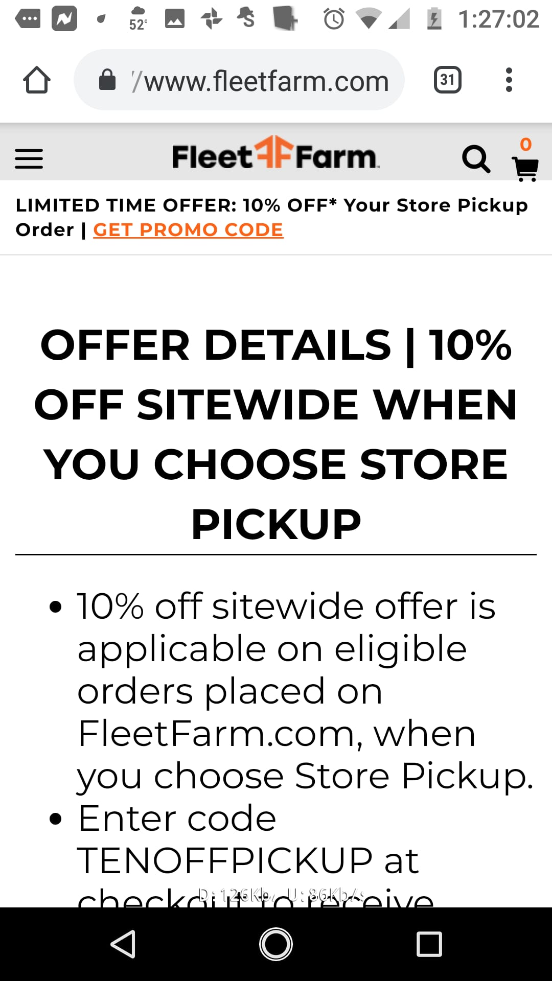 Fleet Farm: 10% off sitewide when you choose store pickup