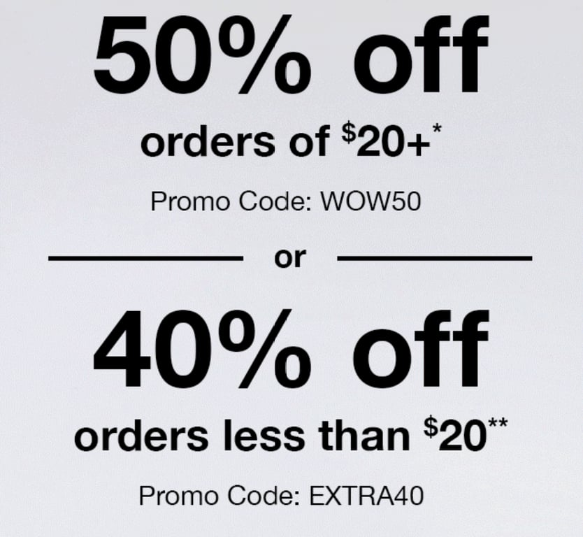 CVS Photo 50% off orders of $20+ or 40% off orders less than $20