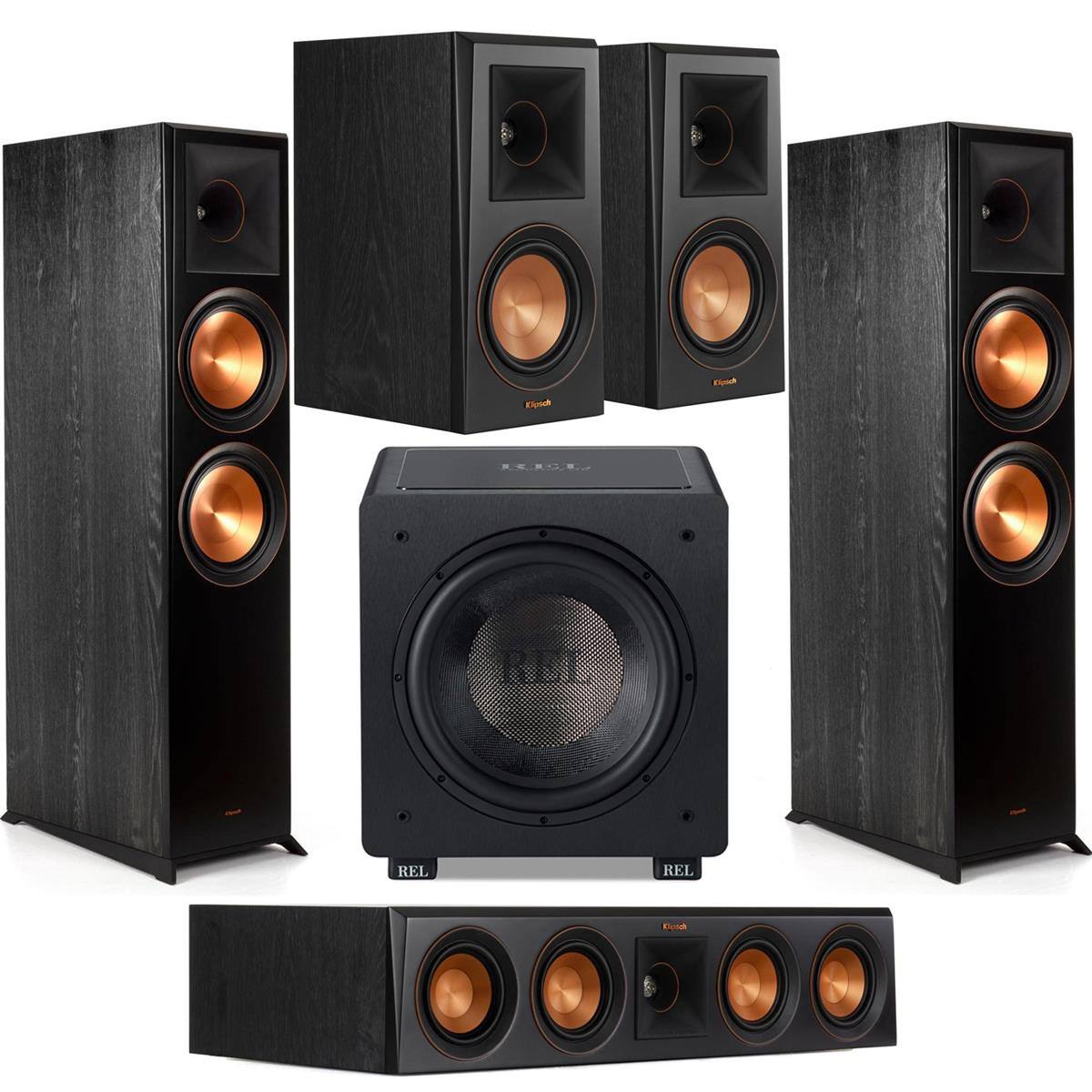 Klipsch Reference Premiere Speakers: 2x RP-8000F + 2x RP-500M + RP-404C + Rel HT/1205 Sub $1599 + free s/h at Adorama