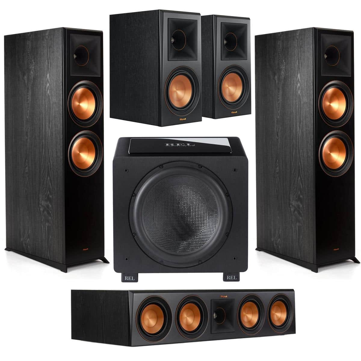Klipsch Reference Premiere Speakers:2x RP-8060FA + 2x RP-600M + RP-504C + Rel HT/1508 Subwoofer $2899 + free s/h at Adorama