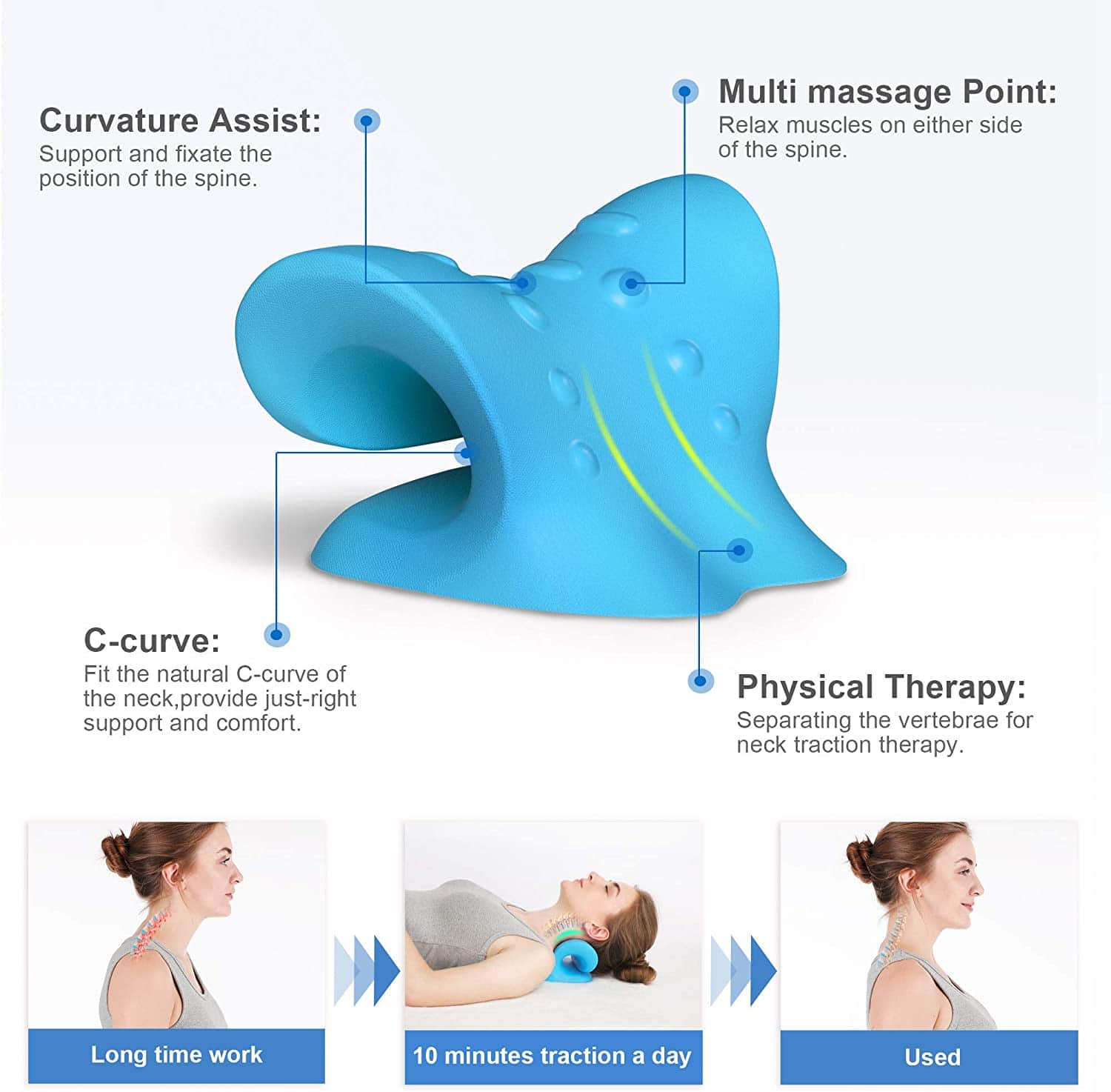 YARKOR Chiropractic Pillow / Neck Stretcher $12.60 at Amazon
