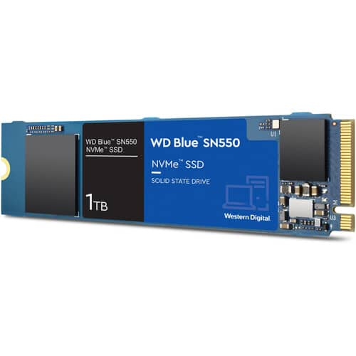 WD SSD's: TB WD_Black SN850 NVMe PCIe 4.0 $172, TB Blue SN550 NVMe $85 + free s/h at BH Photo