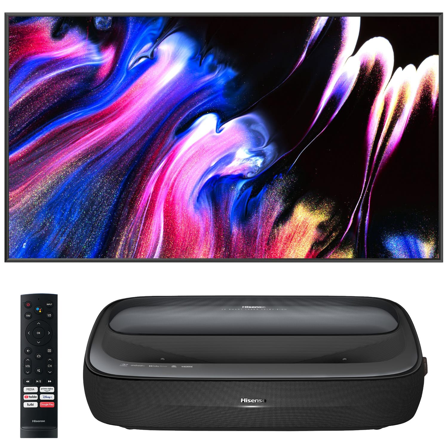 """100"""" Hisense L9 TriChroma Laser TV with 100"""" ALR Projector Screen $3700 (Less w/ SD Cashback) + free s/h at Buydig (100 Day trial is offered)"""