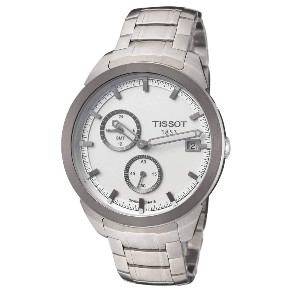 Tissot Titanium GMT 43MM Watch on Bracelet $150 (less w/ SD Cashback) + Free S/H At Ashford