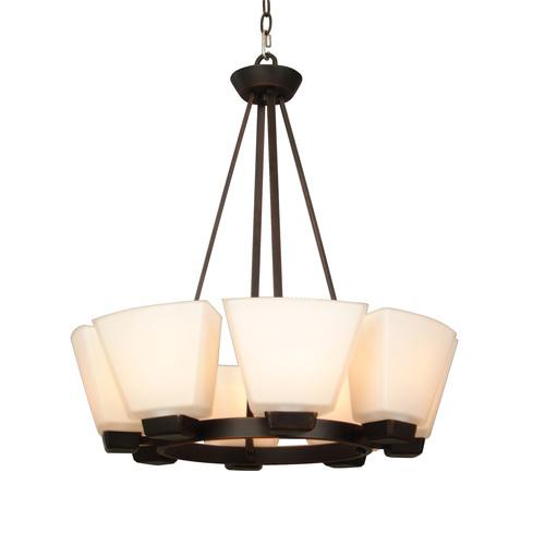 Allen + Roth 8-Light Dark Oil-Rubbed Bronze Chandelier $47, Portfolio 4-Light Brushed Nickel Island Light $42 + Free store pick-up