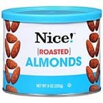 15x 9-Ounce Cans of Nice! Brand Almonds (Assorted Flavors)