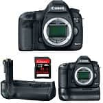 Canon EOS 5D Mark III 22.3 MP Full Frame Digital SLR Camera + Canon BG-E11 Battery Grip + 32GB SanDisk Extreme 45MB/s Memory Card