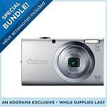 Canon PowerShot A2400 16MP & 28mm Wide Angle Digital Camera + Canon PIXMA MG2120 Photo All-In-One Inkjet Printer