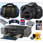 Canon EOS Digital Rebel T3i 18MP SLR Camera w/ 18-55mm Lens + Canon Pro 9000 Printer