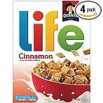 4-Pack of 13oz Life Multigrain Cereal (Cinnamon)
