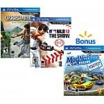 $40 for 3  PS Vita Games: Wipeout 2048 , Uncharted: Golden Abyss, Hot Shots Golf, MLB the show, Little Deviants, Reality Fighters, or Mod Nation Racer