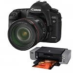 Canon EOS 5D Mark II 21.1MP Full Frame Digital SLR Camera + Canon EF 24-105mm f/4 L IS USM Lens + Pixma Pro 9000 Printer