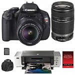 Canon EOS Digital Rebel T3i 18MP SLR Camera w/ 18-55mm Lens + 55-250mm IS Lens + PIXMA Pro 9000 Mark II Printer + 16GB SanDisk Extreme 45MB/s Memory Card & More