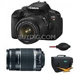Canon EOS Digital Rebel T4i 18MP SLR Camera w/ 18-55mm Lens + 55-250mm IS Lens + PIXMA Pro 9000 Mark II Printer