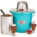 4-Qt. Nostalgia Electrics Ice Cream Maker (Blue)