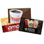 Extra 3% off Select Gift Cards: Dunkin Donuts: $100 GC for $85.50, AMC: $100 GC for