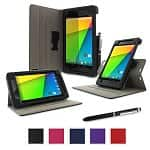 rooCASE Dual-View Stand Case + Origami Slim Shell Case for Nexus 7 2013 Tablet