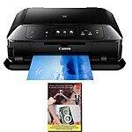 Canon PIXMA MG7520 Wireless All-in-One Printer  + Adobe Photoshop & Premiere Elements 12 $99 + free shipping