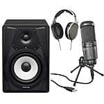 "Sennheiser HD650 Headphones + Audio-Technica AT2020USB+ Cardioid Condenser USB Microphone + 2x Tascam VL-S5 5"" 2-Way Speakers $570 + free shipping"