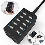 Sabrent 60 Watt (12 Amp) 10-Port USB Desktop Charger + 6-Pack USB Charge Cable $28 + free shipping