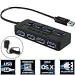Sabrent 4-Port Outlet Powered USB 3.0 Hub with Individual Power Switches $10 @ Amazon