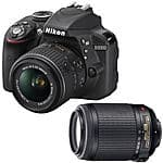 Nikon D3300 DSLR w/ 18-55mm VR II + 55-200mm VR Lens (Refurb)  $399 & More + Free Shipping