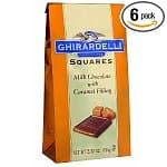 6-Pack 5.3 Oz Ghirardelli Chocolate Squares: Milk Chocolate $9, Milk Chocolate & Peanut Butter $9, 24-pack 3 Oz Scharffen Berger Chocolate $18