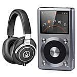 FiiO X3 II Music Player + Audio-Technica ATH-M70X Headphones $350 + free shipping