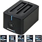 Sabrent USB 3.0 to SATA Dual Bay External Hard Drive Docking Station $30 + Free Shipping