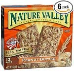 72  Nature Valley Peanut Butter Crunchy Granola Bars (12 x 6 boxes)