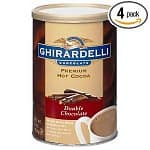 Ghirardelli Chocolate Premium Hot Cocoa Mix  4-pack 16oz Tins: Double Chocolate $15, Chocolate Mocha $16, Chocolate Hazelnut $16
