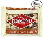 6-pack of 10oz Diamond Brazil Nuts (Shelled)