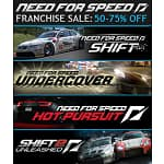 PC Games: Need for Speed Undercover $2.50, Shift $5, Hot Pursuit $10, Shift 2 Unleashed $15, Civilization V $12.50, Deluxe Edition