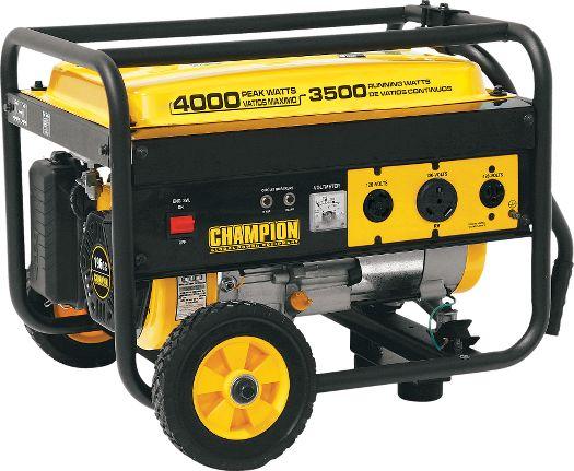 Champion Generator 4000w-max weekender pkg $309 shipped