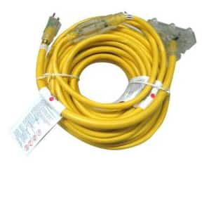 Workforce 75 ft. and 2 ft. Tri-Tap 12/3 Lighted Outdoor Extension Cord (2-Pack) $19 + Free store pick-up