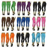 BuyDig Deal: 6-Pack of Women's Yoga Capri Leggings (Assorted Colors or Black)
