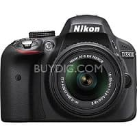 BuyDig Deal: Nikon D3300 DSLR Camera + 18-55mm Lens (Refurbished) + Adobe PEPE12
