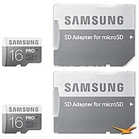 BuyDig Deal: 2-Pack of 16GB Samsung Pro (75MB/s+ read/write)  MicroSDHC Memory Card $25 + Free Shipping