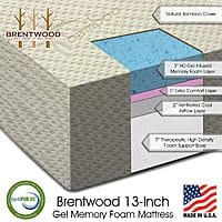 "Rakuten (Buy.com) Deal: Brentwood Home 13"" Gel Memory Foam Mattresses: Twin $220, Full $300, Queen $334, King $460 + free shipping"