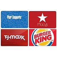 CardCash.com Deal: CardCash Extra 3% Off All Gift Cards: T.J.Maxx 19% Off, Pier 1 Imports 25% Off, Burger King