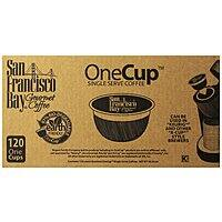 Amazon Deal: 120-Ct San Francisco Bay Coffee OneCup for Keurig Brewers (Breakfast Blend)
