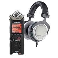 Adorama Deal: Beyerdynamic DT-880 Pro 250ohm Open Headphones + Tascam DR-22WL 2-Channel WiFi Audio Recorder $240 After $50 rebate + free shipping