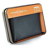 Joseph Abboud Leather Slim-fold Wallet $  8 + free shipping