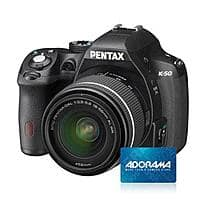 Adorama Deal: Pentax K-50 DSLR: Body + Pentax Flash + 32GB Sandisk Memory