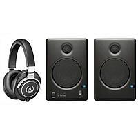 """Adorama Deal: Audio-Technica ATH-M70X Headphones + Pair of PreSonus Ceres C4.5BT  4.5"""" Bluetooth Speakers + Sennheiser CX 475 Earphones $300 + Free shipping"""