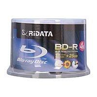 Newegg Deal: 50-Pack RiDATA 25 GB 4X Inkjet Printable BD-R Media