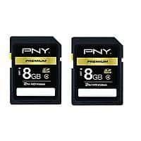 eBay Deal: (2-pack) 8GB PNY SDHC Memory Card $5 + free shipping
