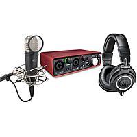 Adorama Deal: Audio-Technica ATH-M50x Headphones + Focusrite Scarlett 2i2 Mic Pre-amp + Samson MTR101 Condenser Microphone $269 + free shipping